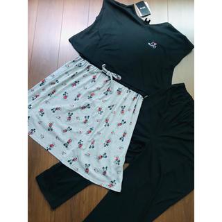 Disney - 即完売レア ディズニー 産前産後 授乳服 ワンピース レギンス パンツ 半袖