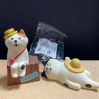 デコレ コンコンブル ハチワレお昼寝と旅猫さん(置物)
