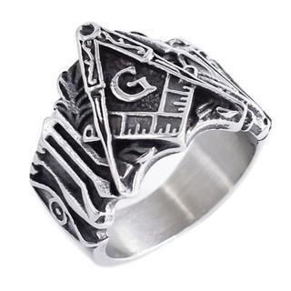 リング 14号・16号・18号 シルバー メンズ フリーメイソン 指輪(リング(指輪))