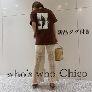 who's who Chico - 《新品タグ付き》who's who ChicoフォトモノトーンT ブラウン