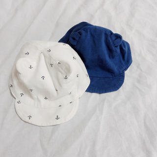 エイチアンドエム(H&M)の【H&M】耳付き帽子(2個セット)(帽子)