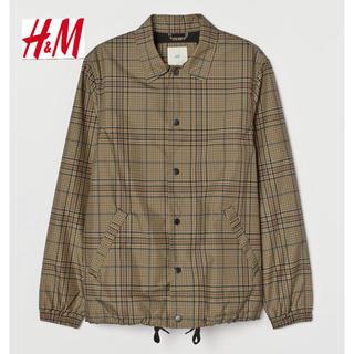 エイチアンドエム(H&M)の新品 H&M Burberry チェック ナイロンジャケット Lサイズ(ナイロンジャケット)