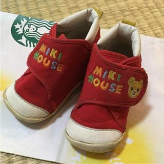 ミキハウス(mikihouse)のミキハウス ベビー ファースト シューズ 赤 12.5 靴 女の子 スニーカー(スニーカー)