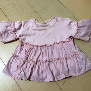 プティマイン(petit main)のプティマイン 5部袖トップス80サイズ(Tシャツ/カットソー)