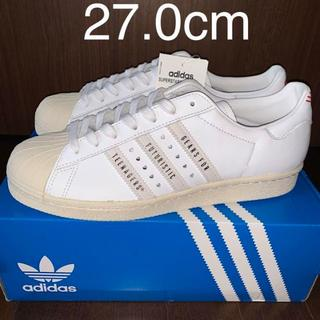 adidas - 新品☆ADIDAS×HUMAN MADE SUPERSTAR ホワイト 27.0