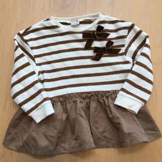 プティマイン(petit main)のプティマイン  ボーダーチュニック  100(Tシャツ/カットソー)