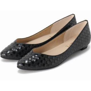 ルタロン(Le Talon)の☆ ルタロン 22.5 cm フラットシューズ バイアスメッシュポインテッド☆(ローファー/革靴)
