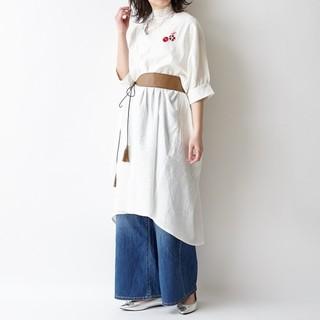 フリフ(ふりふ)の♠️ふりふ♠️新品♠️ 撫子氷刺繍シャツワンピース(ロングワンピース/マキシワンピース)