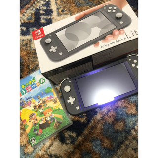 Nintendo Switch - 美品 switch lite グレー&あつ森 set販売