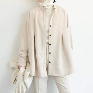 アントマリーズ(Aunt Marie's)の【Aunt Marie's 】タックバンドカラーシャツジャケット(シャツ/ブラウス(長袖/七分))