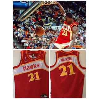 リーボック(Reebok)のスウィングマンジャージ NBA  アトランタホークス   ドミニク・ウィルキンス(バスケットボール)