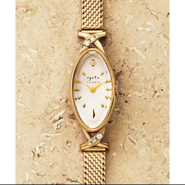 agete(アガット)のagete アガット 腕時計  オーバルフェイスジュエリーウォッチ  レディースのファッション小物(腕時計)の商品写真