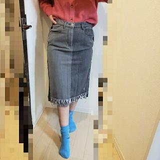 ニコアンド(niko and...)の【9月いっぱいで削除】デニムスカート(ひざ丈スカート)