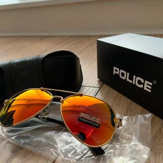 POLICE - POLICE オレンジxゴールド UVカット アウトドア