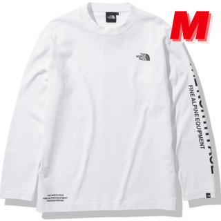 ザノースフェイス(THE NORTH FACE)のノースフェイス ロングスリーブ テステッド プルーブン Tシャツ 白 Mサイズ(Tシャツ/カットソー(七分/長袖))