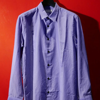 ジョンローレンスサリバン(JOHN LAWRENCE SULLIVAN)のLITTLEBIG 19ss シルクドレスシャツ パープル(シャツ)