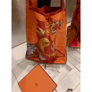 エルメス(Hermes)のHERMES シルキーポップ オレンジ 確実正規品(エコバッグ)