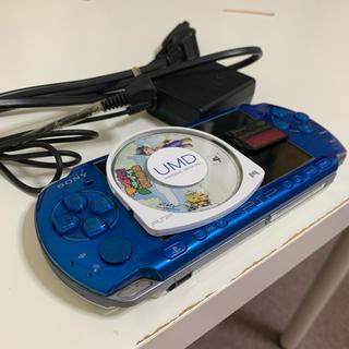PlayStation Portable - 【すぐ遊べる】PSP3000ブルー ゲームと充電器付き