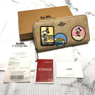 COACH - 【新品未使用】COACH ディズニーコラボ 長財布 男女兼用