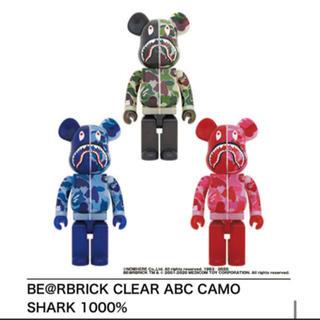 Be@rbrick Clear ABC Camo Shark 1000% セット