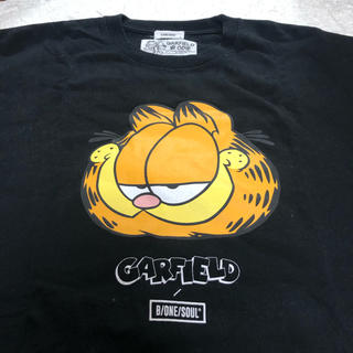 GARFIELD ODIE ガーフィールドプリントtシャツ/ブラック XL