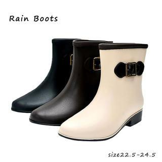 ☆新品☆ 残り1点❗ レインブーツ 完全防水 オシャレ✨(レインブーツ/長靴)