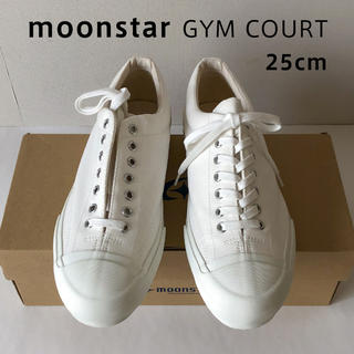ムーンスター(MOONSTAR )のmoonstar Gym Court 25cm ホワイト 生成り ムーンスター(スニーカー)
