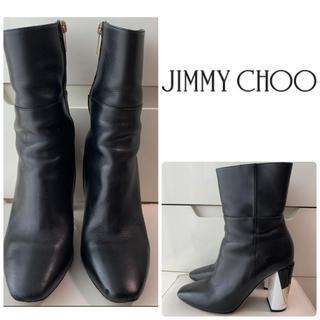 JIMMY CHOO - ジミーチュウ ブラックレザー ブーツ