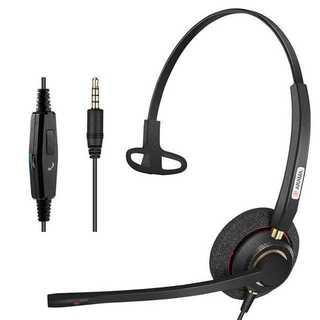 Arama ヘッドセット 片耳 3.5mm ヘッドホン マイク付き R1212