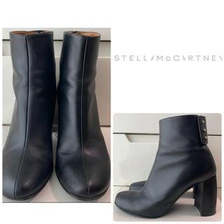 ステラマッカートニー(Stella McCartney)のステラマッカトニー  ブラックレザー ブーツ(ブーツ)