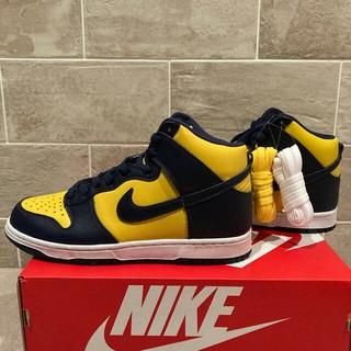 ナイキ(NIKE)の27.Nike dunk Michigan ナイキ ダンク 紺黄 US9 未使用(スニーカー)