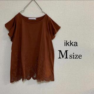 イッカ(ikka)のMサイズ ikka ⭐️新品⭐️ カットワーク刺繍プルオーバー(カットソー(半袖/袖なし))