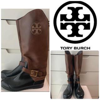 トリーバーチ(Tory Burch)のトリーバーチ ダークブラウン アイコン レインブーツ(レインブーツ/長靴)