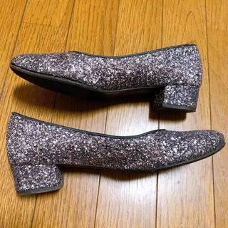 ギンザカネマツ(GINZA Kanematsu)の銀座かねまつ シルバー グリッター パンプス(ハイヒール/パンプス)