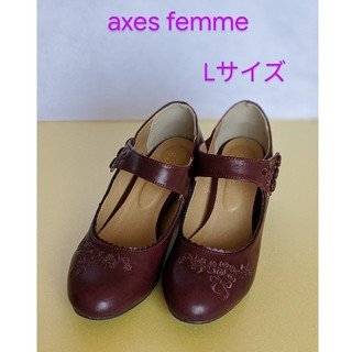 アクシーズファム(axes femme)のaxes femme♡赤いパンプス ストラップつき♡Lサイズ(23.5~24)(ハイヒール/パンプス)