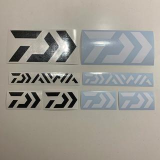 ダイワ(DAIWA)のダイワ カッティングステッカー ブラック・ホワイト  超防水 8枚セット(その他)