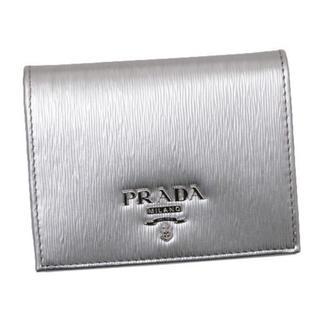 PRADA - プラダ PRADA 折り畳み財布 シルバー