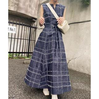 Ameri VINTAGE - NEEDLE CHECK DRESS  希少S 最安値 正規品