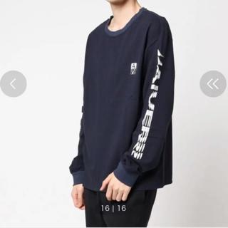 ハレ(HARE)のCASPER JOHN AIVER  BUG LOGO 長袖Tシャツ(ネイビー)(Tシャツ/カットソー(七分/長袖))