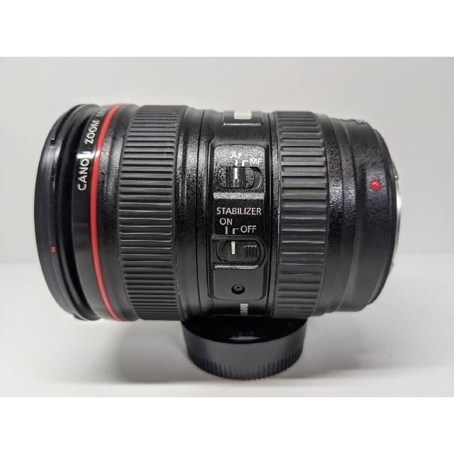 Canon(キヤノン)のcanon ef24-105mm f4 is usm 美品 スマホ/家電/カメラのカメラ(レンズ(ズーム))の商品写真