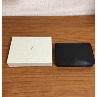 エンダースキーマ(Hender Scheme)のforme - Short Wallet (Baby Calf Black)(折り財布)