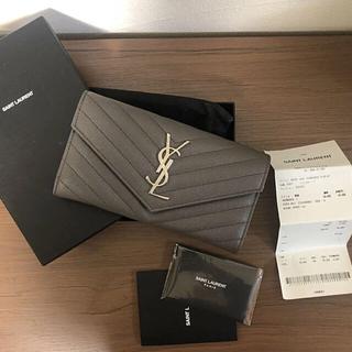 サンローラン(Saint Laurent)の新品未使用 サンローラン◎長財布 グレー(財布)