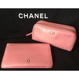 CHANEL - CHANELココボタン長財布とポーチセット