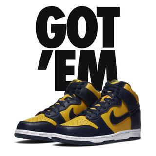 "NIKE - NIKE DUNK HIGH ""MICHIGAN"" ダンク ミシガン"