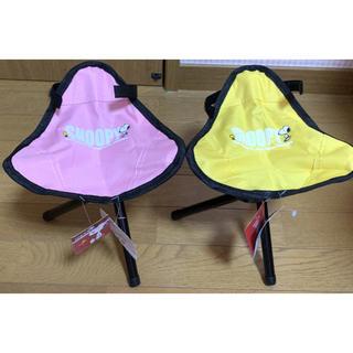 スヌーピー(SNOOPY)のスヌーピー 三脚チェア 折り畳み キャンプ 椅子 アウトドア 持ち運び 2点(テーブル/チェア)