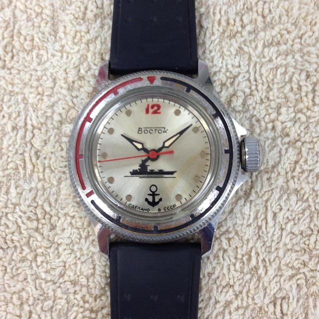 save off 1c62c b9e0c 旧ソ連製ボストーク 軍用腕時計