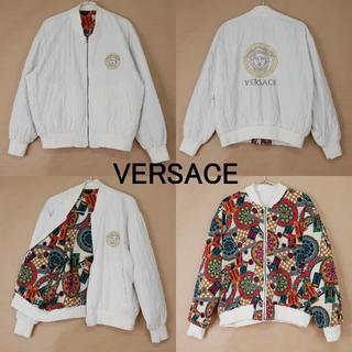 ヴェルサーチ(VERSACE)のメンズ VERSACE ヴェルサーチ 中綿入り リバーシブルジャケット(ノーカラージャケット)