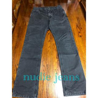 ヌーディジーンズ(Nudie Jeans)のnudie jeans ヌーディージーンズ ブラックチノパン(デニム/ジーンズ)