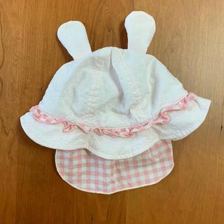 アカチャンホンポ(アカチャンホンポ)のベビー 耳付き帽子 46cm(帽子)