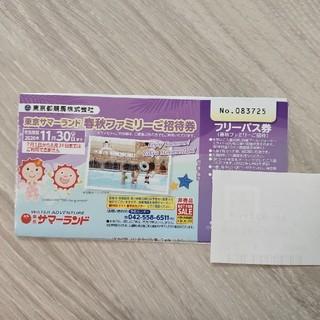 東京サマーランド春秋ファミリーご招待券 5枚(遊園地/テーマパーク)